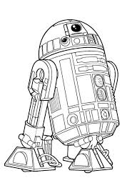 Kids N Funde Malvorlage Star Wars The Force Awakens R2 D2