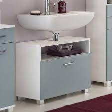 Badezimmer Unterschrank Für Waschbecken In Hellblau Weiß 66x55x35
