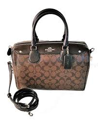 Coach Signature Bennett Satchel - Brown Black