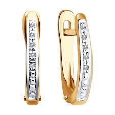 <b>Серьги</b> из золота с <b>бриллиантами</b> SOKOLOV – купить в ...