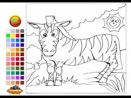 Small Picture Zebra Coloring Pages for Kids Zebra Coloring Pages YouTube