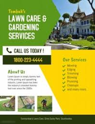 Lawn Care Brochure Customize 240 Lawn Service Flyer Templates Postermywall