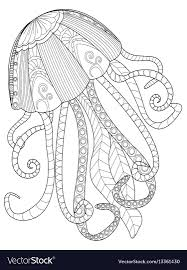 jellyfish coloring for s vector image