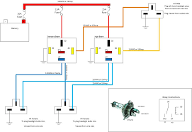 wiring diagram for relay for headlights the wiring diagram relay diagram headlight acds wiring diagram