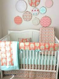 peach and mint crib bedding chevron baby bedding c colored fresh best peach mint and gray