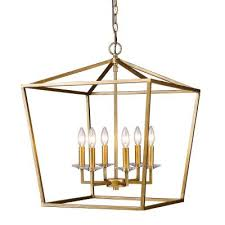 acclaim lighting kennedy indoor 6 light antique gold chandelier with crystal bobeches in11130ag the home depot