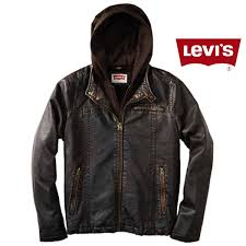 levis moto trucker vegan genuine leather brown coat jacket malaabes ping in egypt promoting original mens designer clothing brands