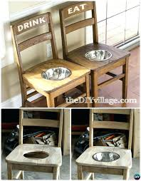 repurposing old furniture. Repurposing Old Furniture Wooden Chairs Dog Feeder Station From Ways To .