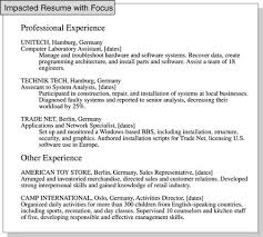 Relevant Experience Resume Delectable How To Focus A Resume On Relevant Job Experience Dummies