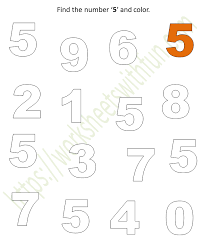 Try to make the question harder first. Mathematics Preschool Find The Number 5 And Color Worksheet 5