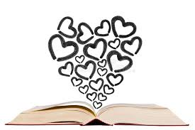 open text book with heart shape icon pen drawing icon stock photo image of