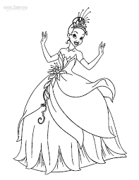 Disney princesses printable coloring pages. Printable Princess Tiana Coloring Pages For Kids