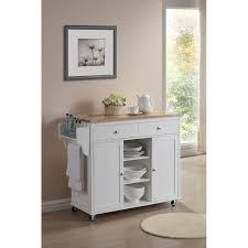 modern white kitchen cart island