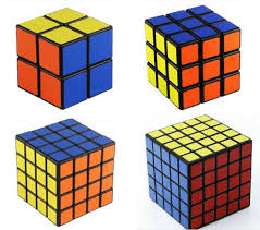 Rubiks Cube Combo 2x 3x 4x 5x Competition Cube