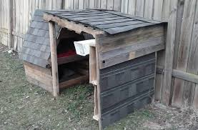 Wooden Pallet Two Story Dog House   Pallet Furniture DIYrepurposed wooden pallet story pet house