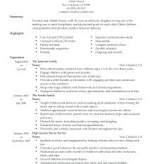 Babysitting Resume Samples Best Of Example Of Nanny Resume Resume For A Nanny Sample Nanny Resume Cover
