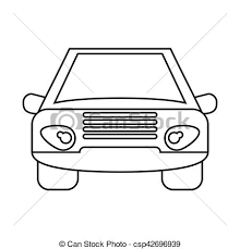 car outline front. Perfect Car Car Vehicle Transport Front View Outline  Csp42696939 And Car Outline Front
