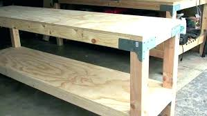 build workbench top 2x4 garage homemade work benches workbenches kitchen cabinets