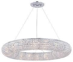 crystal halo 18 light 41 chrome crystal chandelier with led bulbs
