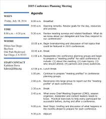 How To Write An Agenda Of A Meeting Free 5 Sample Agenda Planner Templates In Pdf Word