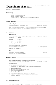 Electrical Engineering Resumes Awesome Trainee Engineer Resume Samples VisualCV Resume Samples Database