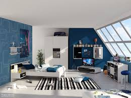 bedroom decor with stripes for pre teen boys | Cool Boys Teenage Bedrooms  Themes