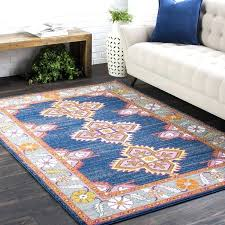 pink and blue aztec rug area rugs round fleece
