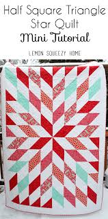 Red and Turquoise Quilt + Mini Tutorial &  Adamdwight.com