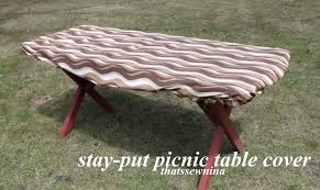 Round Plastic Table Covers With Elastic Elastic Picnic Table Cover Outdoor Patio Tables Ideas