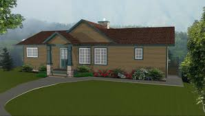 simple ranch style house plans with walkout basement