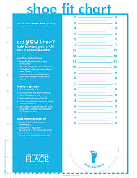 Walk Fit Size Chart Printable Shoe Size Chart For Kids From The Childrens Place