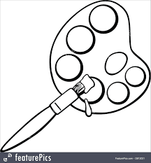Paintbrush Coloring Pages Paint Brush Coloring Page Painting
