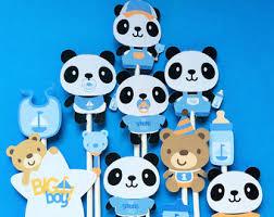 Pandas Baby Shower Niña  Centro De Mesa  Pinterest  Panda Baby Panda Baby Shower Theme