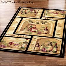 wine bottle area rug