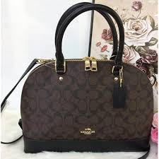 Authentic Coach Sierra Satchel in Signature Brown - F37233