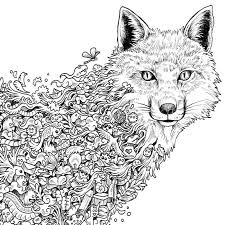 Small Picture Fox Coloring Page Mature Colors