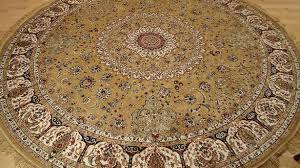 sweet ideas round oriental rugs com persian silk brand gold rug large beige circle shape area 8x8 8 foot kitchen
