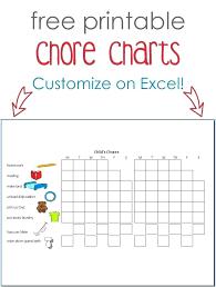 Chore Chart Maker Free Template Jasonkellyphoto Co