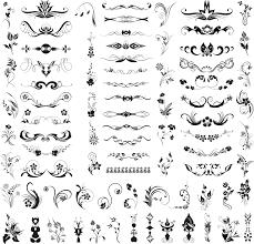 フローラルな装飾飾り罫飾り枠ラベルの無料セット Free Style