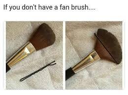 makeup life hacks beauty hacks beauty tips diy fan laurel wreath mind n nail hacks wreaths funny makeup