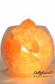 glass salt lamp rose bowl free
