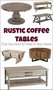 Diy rustic coffee table Square Just The Woods Llc Rustic Coffee Tables That You Need To Have In Your Home