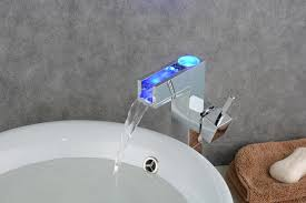 bathroom sinks and faucets. Bathroom Sink Faucet With Color Changing LED Waterfall (Tall) FA0616AF Sinks And Faucets