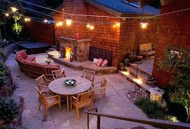 outside patio lighting ideas. Outdoor Patio Lighting Ideas Nice Outside Stylish Fireplace For Comfortable . R