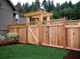 custom wood fence designs