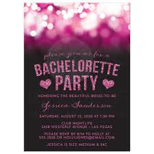 bachelorette party invite bachelorette party invitations pink party lights glitter