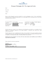 preapproval james campbell prospect mortgage preapproval letter example