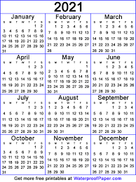 Hundreds of free calendar templates in over 55+ styles for you to print on demand. 2021 Free Printable Calendars Easy To Print