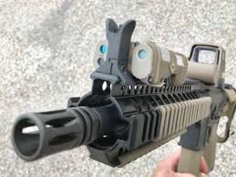M4 Laser Designator Defense Solutions Group Peq 15 And Ngal Front Sights