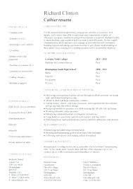 Resume Cashier Example Directory Resume Sample